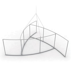 Pinwheel Single Sided Hanging Banner