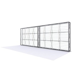 20ft Lumière Light Wall® Configuration D - BACKLIT (Graphic Package)