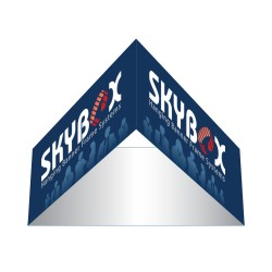 Triangle Single Sided Hanging Banner