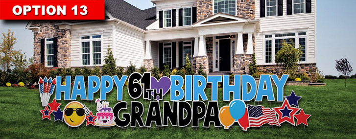 happy birthday yard card signs san diego  yard greetings